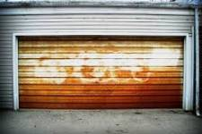 What could lead to rust on your garage door?